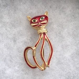 Accessories - Vintage 💎 cat brooch pin